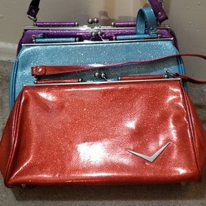 Lux De Ville red glitter sparkle purse